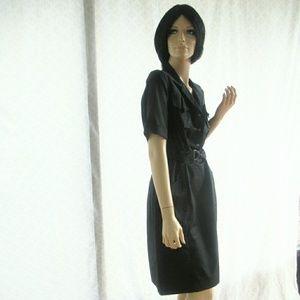 Elie Tahari Black Cotton Shirt Dress